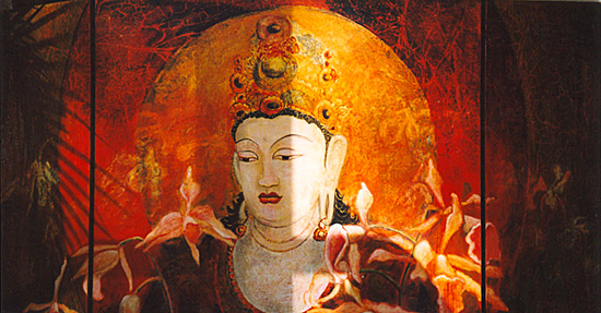 Buddha With Orchids